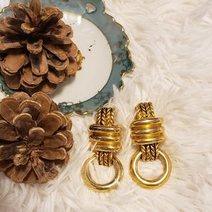 Vintage Claire Deve Paris Clip On Earrings